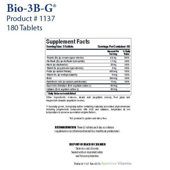 Biotics Research Bio-3B-G®