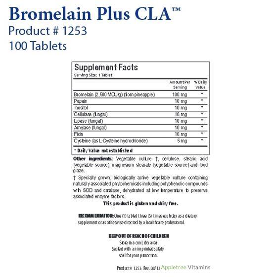 Biotics Research Bromelain Plus CLA™